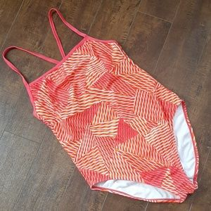 Speedo Orange Crossback Swimsuit Size 11/12